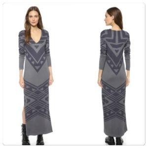 Free People  Bauhuas Long Dress Gray Large🎄🎁🎄